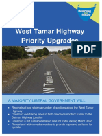 West Tamar Highway Priority Upgrades