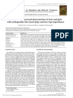 [Current Issues in Pharmacy and Medical Sciences] Dental Arch Transversal Characteristics in Boys and Girls With Orthognathic Bite_ Head Shape and Face Type Dependence