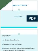 4 Prepositions