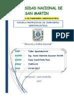 Analisis Sensorial- Taller Agroindustrial
