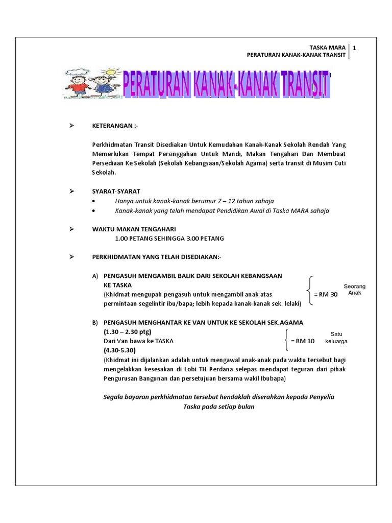 Peraturan Transit