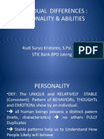 Individual Differences Personality & Abilities