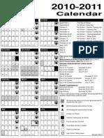 FINAL Calendar 2010 2011