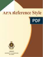 User Education Guidelines APA
