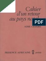 Cahier d'Un Retour Au Pays Natal - Aimé Césaire