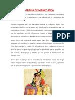 Biografia de Manco Inca