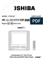 Toshiba VTW2187 Owners Manual