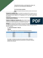 COMPARACIÓN DE MÉTODOS PARA LA ESTIMACIÓN LINEAL DE PARÁMETROS DE LA ECUACIÓN DE ARRHENIUS.docx