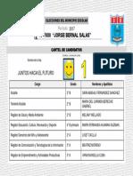 Cartel candidatos escolares  N° 1.ppt