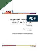Programme canadien des armes à feu de la GRC - Évaluation