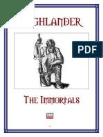 Highlander the Immortals Core Rulebook