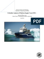Criticality Analysis of Platform Supply Vessel