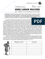 christmas carol - stave 1 - setting   word type identification - london town verbs and adjectives excerpt