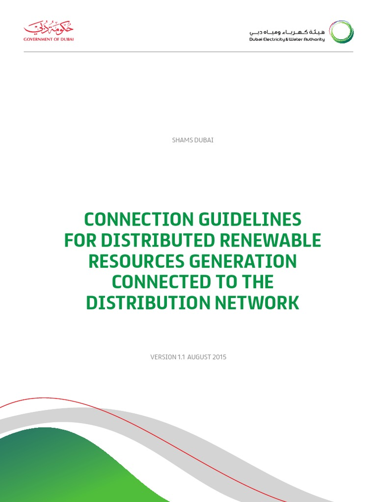 drrg connection guidelines final photovoltaics photovoltaic system rh scribd com dewa distribution substation guideline 2014 edition Transmission Substation
