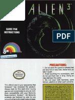 Alien 3 - Manual - NES