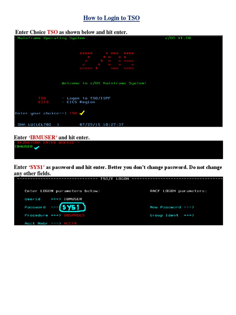Mainframe Screens Zos1 7 | Library (Computing) | Compiler
