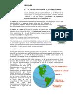 Influencia de Los Tropicos Sobre El Mar Peruano
