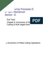 Economics of Metal Cutting Operations