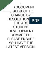 Arc Clubs Procedures 310712