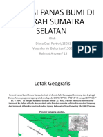 Potensi Panas Bumi Di Daerah Sumatra Selatan