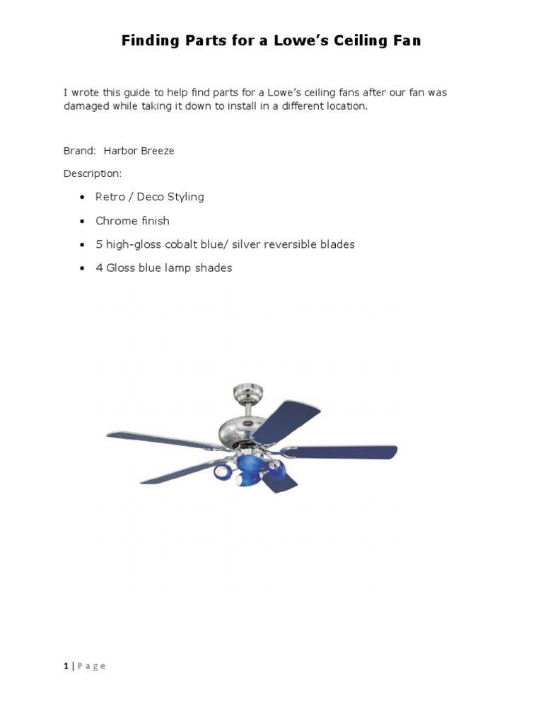 Finding Ceiling Fan Parts Technology Engineering Business