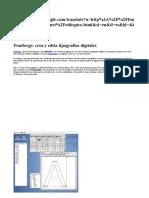 Manual Fontforge