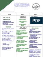 Programa del III Congreso Internacional de Bibliotecología e Información