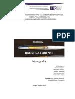 Monografia Unidad IV. Balística Forense
