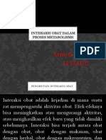 Interaksi Obat Dalam Proses Metabolisme Armyta 11334102