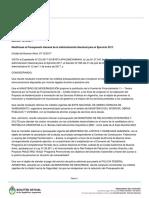 Decreto Necesidad y Urgencia 1013 - Modificación Presupuestaria 2017