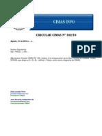 Circular CIMAS Nº 102/10