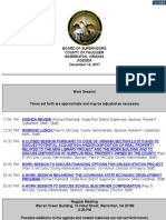 Fauquier Board of Supervisors Agenda December 14, 2017