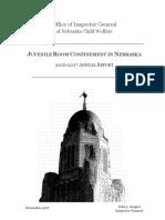 JUVENILE ROOM CONFINEMENT IN NEBRASKA 2016-2017 ANNUAL REPORT