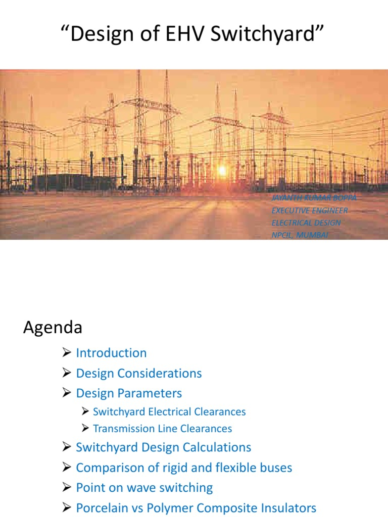 Switchyard_Presentation pptx | Electrical Substation | Insulator