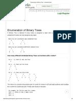 Enumeration of Binary Trees - GeeksforGeeks