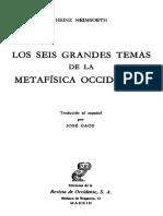 Heimsoeth Heinz - Los Seis Grandes Temas de La Metafisica Occidental