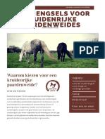 Folder Samenaankoop Voor Kruidenrijke Paardenweides