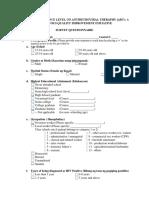 Patient Questionnaire Tools