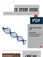 genetics study guide with answers