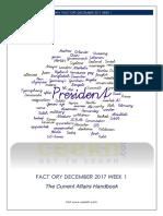 'Fact'ory December Week 1