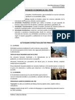 Actividades Economicas Del Peru 2017