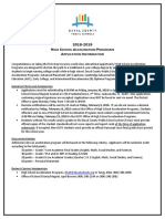 2018-2019 HSAP Application