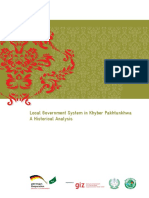 Analysis of the History and Evolution of Local Government System in Khyber Pakhtunkhwa