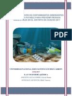 Caracterizacion de Contaminantes Emergentes en El Agua Potable