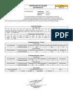 Certificado de Calidad Cellocord