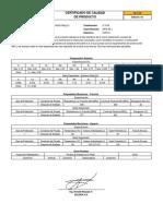 Certificado de Calidad Supercito