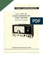Leader AudioGenerator AG-26