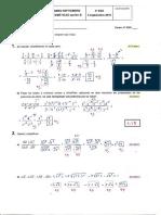 Examen Septiembre 2016 Matemateicas 4 Eso
