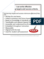 Effective Learning Targets and Success Criteria