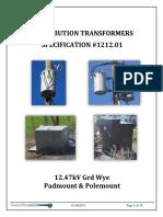 1212.01 15kV GRD WYE-Padmount & Overhead Distribution Transformers